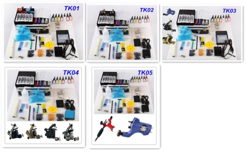Professional &Complete Tattoo Kit with High Quality Tattoo Machine Tattoo Ink