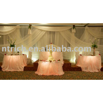 charming organza table cloth ,banquet table cloth,