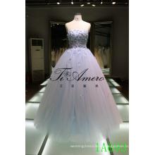 Роскошный без бретелек халат де mariage 2016 аппликация свадебное платье невесты бальное платье вечернее платье