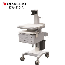 DW-310-A Hospital mobile nursing workstation matching with computer clinic crash endoscopy trolley
