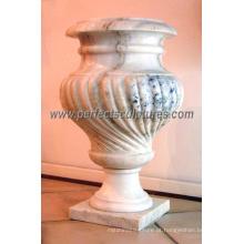 Vaso de flor de mármore da pedra do jardim (QFP009)