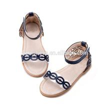 Laser corte moda menina sapatos sandália para meninas sandália pvc transparente para crianças