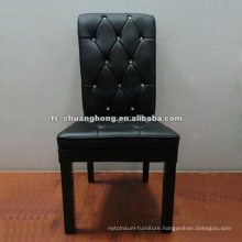 Black Leather Living Room Furniture (YC-F079)