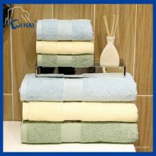 100% algodão espiral fios toalha de banho Hotel (qhh99812)