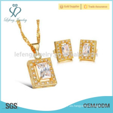 Collar promocional del collar del oro, collar cubano de la cadena 18k del oro