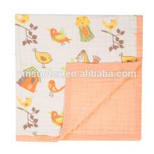 VENTES! Hot sale coton mousseline Swaddle Blanket, couverture bébé
