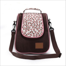 Bolso rosado de la mamá de la capacidad grande de la manera de la impresión del leopardo