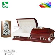 Antique American decorative pattern wholesale casket