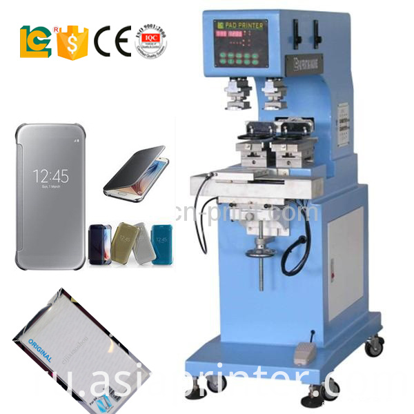 2-Color Shuttle Sealed Cup pad Printing Machine