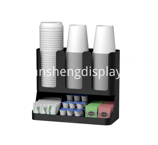 6 Compartment Upright Coffee Condiment Cups Organizer