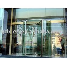 Porte tournante automatique en cristal