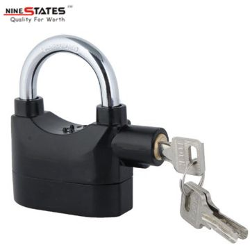 Security Alarm Padlock warna hitam Padlock