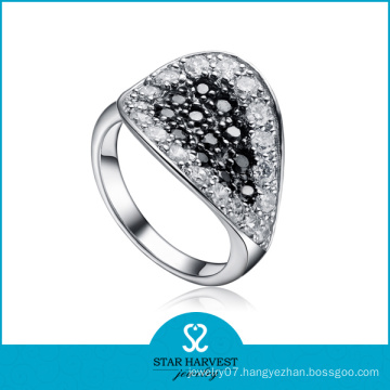 Old Fashioned Paved Setting CZ Silver Ring (SH-R0071)