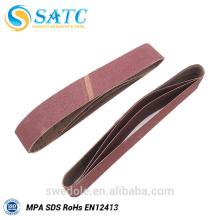 Bandes de ponçage à l'oxyde d'aluminium pour ponceuse à bande large ou en métal