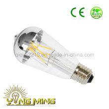 Lâmpada do diodo emissor de luz do espelho 3.5W E27 Dimmable da prata St64
