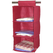 Red Fabric Non Woven Daily Home Storage Hanging