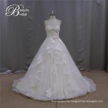 Nombre de la marca A-Line vestido de novia rebordear motivo