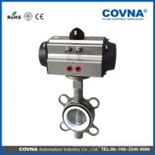 stainless steel pneumatic butterfly valve with PTFE seal