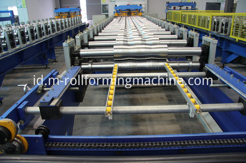 Light weight wall panel rolling machine