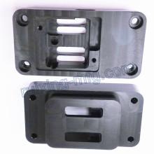 Service personnalisé d'usinage Boîtier de brosse pour pièces en plastique noir POM Delrin