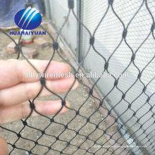 Malha de cabo de aço inoxidável ferrule Malha de tecido de alta qualidade SUS304 zoo malha