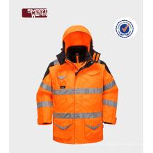 ISO EN20471 manga removida hi vis jaqueta reflexiva de segurança