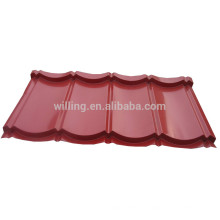 Ruby Red Color Coated Corrugated Gavanized Steel Roof Tile