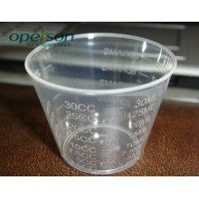 Copo de Medição em Plástico com Tamanhos Diferentes