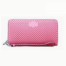 Pink Wallet Case PU Leather Fashion Custom Brand Available Women′s Handbag Wzx1064