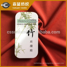 Ropa interior Poliéster y tejido de punto de bambú con tejido de carbono.