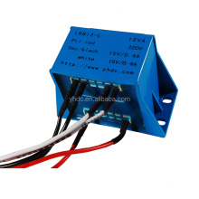 100W /220V AC / 12V AC electrical isolating transformer with lead wire output