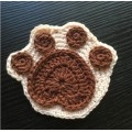 Handmade Milk Cotton Yarn Crochet Table Placemats Cute animal Table Mat Crochet Coasters Doilies Cup Pad Props