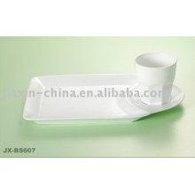 Juego de desayuno de porcelana especial con color blanco JX-BS607