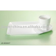 Special porcelain breakfast set with white color JX-BS607