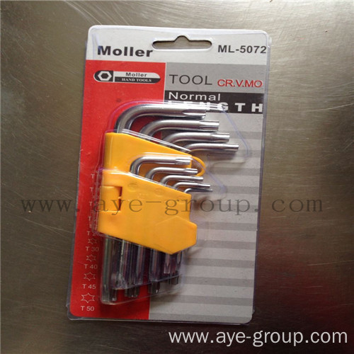 Star head short Hex Key 9PCS