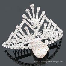 Grossista cristal cabelo acessórios tiara cabelo clipe