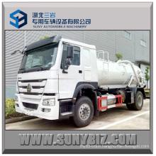 10cubic 12cubic HOWO 4X2 Vacuum Sewage Suction Tanker Truck