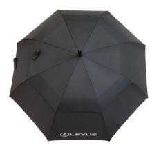 Paraguas de golf de barra recta doble sombrilla, Paraguas promocional