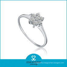 Wholesale Floral 925 Sterling Silver Ring with Cheap Price (R-0119)