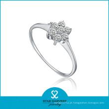 Atacado Floral 925 anel de prata esterlina com preço barato (R-0119)