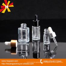 Botella de gotero de vidrio para envases de aceites esenciales