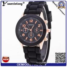 Yxl-343 Wholesales Custom Silicone Watch Good Quality Colorful Designs Quartz Fashion Geneva Wrist Watch