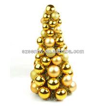 Hand made plastic Christmas ball tree