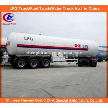 56cbm LPG semi-reboque 56000L LPG transporte reboque para venda