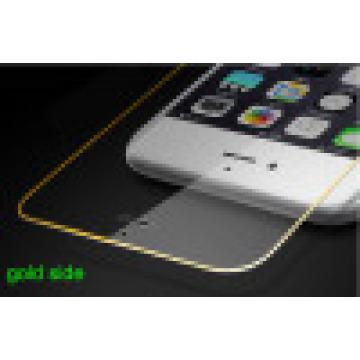 Handy-gehärtetes Glas-Schirm-schützender Film für iPhone mit Goldseite-volle Abdeckung