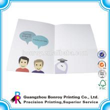 Barato más grande que la carpeta de documentos A4 / impresión de carpeta de archivos en papel