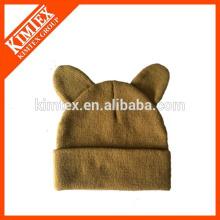 Sombrero de acrílico al por mayor del gato del Knit del 100%
