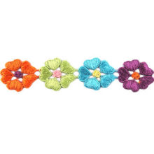 Colorful Embroidered Lace Trim, Comes at 2.5cm, Various Designs are Available