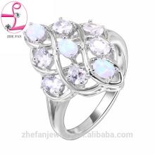 Joyas de plata anillo de bodas de oro rosa anillo de bodas de rodio rusa es su buena elección