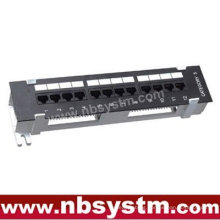 """12 port Wall Mounted UTP Cat5e Cat6 Patch Panel 10"""" 1U, Krone or 110 Dual IDC"""